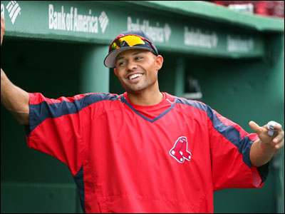 Coco Crisp, who has been out with a fractured finger and kidney stones, is no doubt tired of hanging around the dugout.