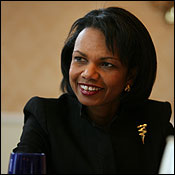 Condoleezza Rice said, ''Christians are of course on both sides of the argument . . . [on] force.''