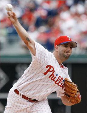 Cory Lidle made the start for the Philadelphia Phillies. Lidle came into the game with a 3-4 record on the season.