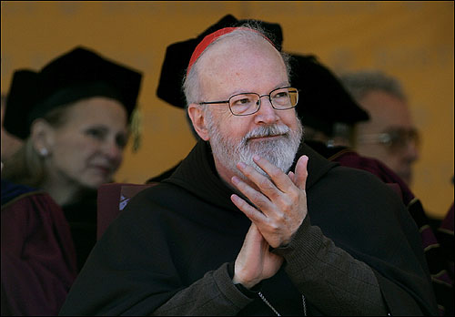 Cardinal Sean Patrick O'Malley applauded during Rice's speech.