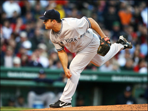 Jaret Wright made the start for the Yankees. It was his first time facing the Red Sox this season.