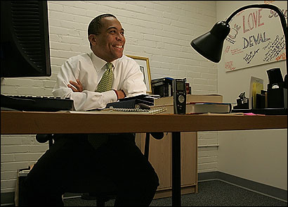 Deval Patrick, 49, hopes his gift of building bridges on divisive issues can carry him to the governor's office.