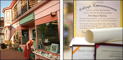 The Artists and Authors bookstore in Marblehead has a new draw: honorary degrees conferred by colleges and universities on the novelist John Updike. The going rate is about $750, and the status of the school seems to make little difference in price.