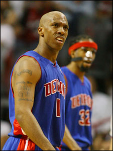 Chauncey Billups is the undisputed leader of the Pistons.