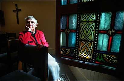 Sister Jeannette Normandin, in the Jesuit Urban Center.