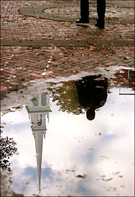 At the Old North Church you can view the steeple where the two lanterns were hung that signaled Paul Revere to take h