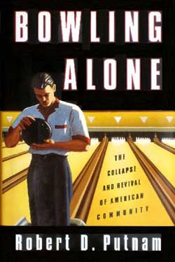 A major national survey being released today shows that the average number of people with whom Americans discuss important matters has dropped from three to two in just two decades. The study is a vindication for the Harvard author of 'Bowling Alone,' Robert D. Putnam, who published a similar theory six years ago based on trends from the decline of dinner parties to lower voter turnout and falling participation in bowling leagues.