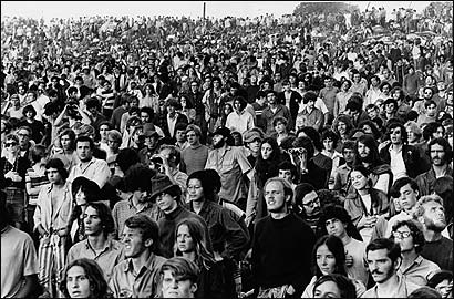 The Woodstock music festival was held on Max Yasgur's farm on Aug. 15-17, 1969.