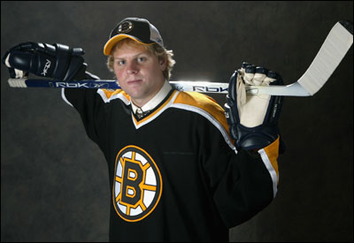 Phil Kessel, striking a pose during the NHL draft, is a dynamic talent, said Scott Bradley, Bruins' director of amateur scouting.