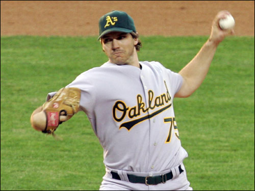 Billy Beane isn't going to move Zito, not when the Athletics have caught fire, the AL West is wide open, and Rich Harden is hurting. If Zito goes anywhere, it will be after the season.