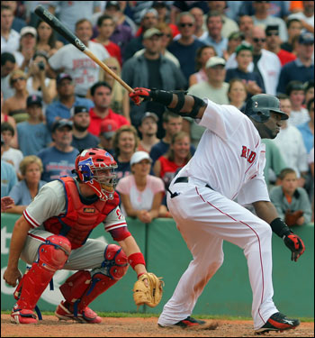 Phillies catcher Chris Coste watched David Ortiz stroke a single to left-center field in the bottom of the 12th inning to pick up his second game-winning hit in as many games for the Red Sox. The hit scored Kevin Youkilis with the winning run.