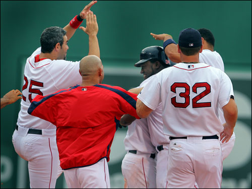 The Red Sox are currently riding a 12-game win streak (their longest since 1995), which began with a 4-1 victory over Atlanta on June 16. During that span, the Sox are batting .334 as a team with 91 runs scored, 145 hits, and 18 home runs. Sox pitchers have a 3.21 ERA and the team has not committed an error. Here's a look at how the Sox got to 12 ...