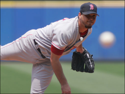 Josh Beckett held down the Braves offense for two runs in six innings to record the win. The former National League star has three wins in the team's last 11 games against his former competition.