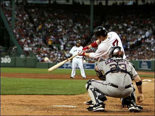 Trot Nixon went 3 for 4 with an RBI and two runs scored as the Red Sox pounded Washington in their return to Fenway.