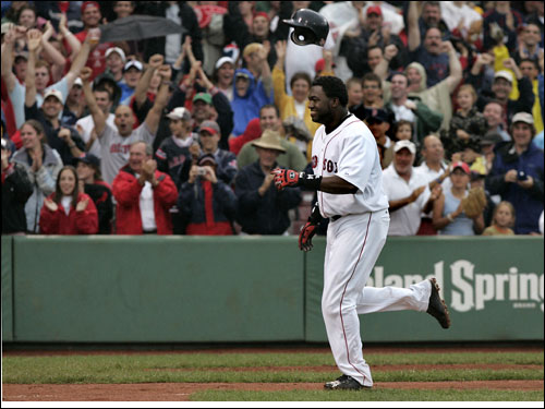 David Ortiz clubbed the eighth walkoff home run of his Red Sox career in extra innings to give Boston the win.