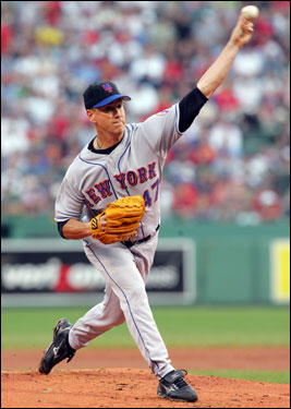Billerica's own Tom Glavine was on the mound for the Mets in the first matchup of 200-game winners at Fenway Park since 1978.