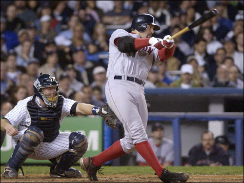Varitek has been struggling at the plate all season. He heads into the break with nine homers and 40 RBIs, and is hitting .232 -- far below his career average of .269. He is just 3 for 28 in July. Varitek, however, has been instrumental in handling the pitching staff. The revolving door on the mound has kept him busier than usual. The backstop has caught for 10 different starting pitchers so far this season.