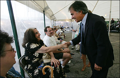 Christy Mihos attended the recent Greek Festival in Watertown where he greeted Tia Alamanos.