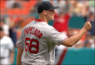 Rookie Jonathan Papelbon, who earned his 25th save yesterday, is one of four Red Sox All-Stars.