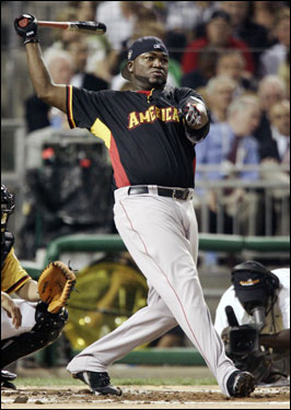 Red Sox All-Star slugger David Ortiz put on a show in the first round of the derby.