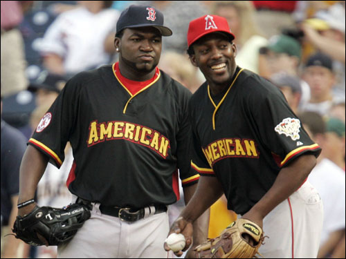 Ortiz joked with AL teammate and friend Vladimir Guerrero before the derby began.