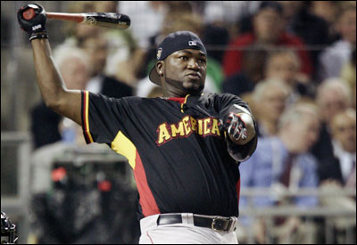 David Ortiz, the majors' top home run hitter, had his long-ball stroke going in the first round of the Home Run Derby, but ran out of steam.