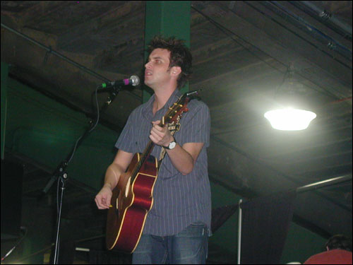 Recording artist Howie Day was the next to perform. His young fans nearly matched those of James Taylor in number.