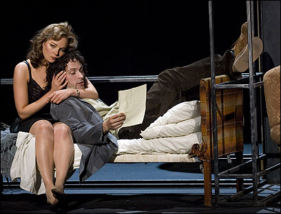 Miranda Colchester and Rufus Sewell in Tom Stoppard's ''Rock 'n' Roll'' in London.