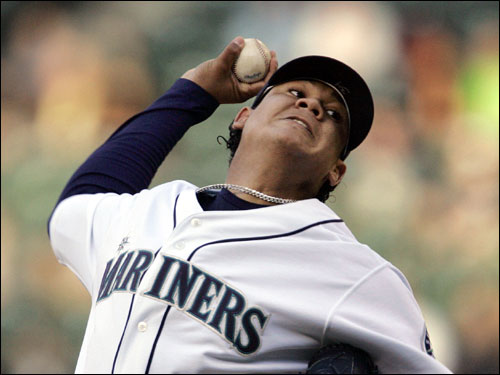 No one on the Red Sox has ever faced the Mariners ace-in-training, Felix Hernandez. After a phenomenal start to his career, King Felix's numbers have come down to earth this season. Hernandez is 8-8 with a 4.89 ERA on the season. In recent years, however, the Red Sox have struggled against pitchers they've never faced before.