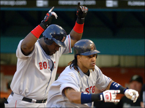 Manny Ramirez is hitting .340 against Moyer with nine career home runs. David Ortiz is hitting .353 against the lefty, and of his 12 hits, four are home runs.