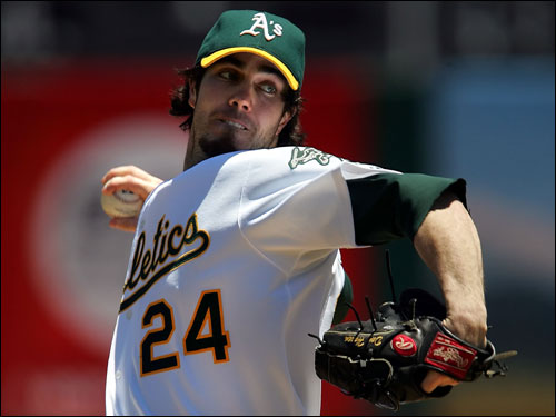 Dan Haren faces the Red Sox for the second time also. Haren was on the losing side of a 7-0 shutout by the Red Sox. Boston touched Haren for five runs in five innings, picking up their lone victory over Oakland this season. Haren is 0-3 over his last six starts.