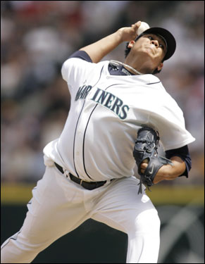 Ace-in-training Felix Hernandez started for the Mariners.