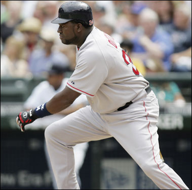 David Ortiz poked an RBI single into the outfield in the second inning.