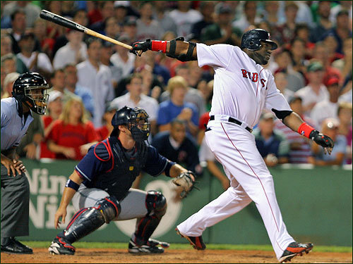 July 31, 2006 Red Sox 9, Indians 8 David Ortiz hit a game-ending, three-run homer in the ninth inning to give the Boston Red Sox a 9-8 win over the Cleveland Indians that kept them in sole possession of first place in the AL East.