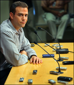 There were a lot of recorders in front of Theo Epstein, but there was little for the GM to say.