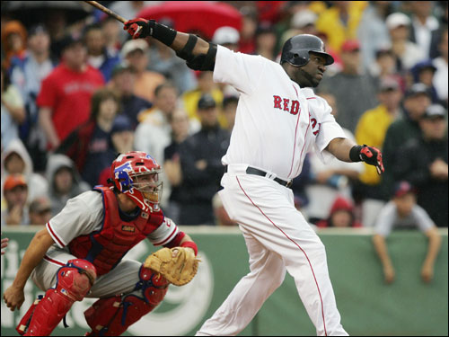 He can do it in extras, too. This 10th inning David Ortiz blast off of Phillies closer Tom Gordon gave the Red Sox a 5-3 win.