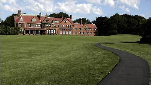 The Cliff Walk skirts the Salve Regina University campus. Pictured is McAuley Hall.
