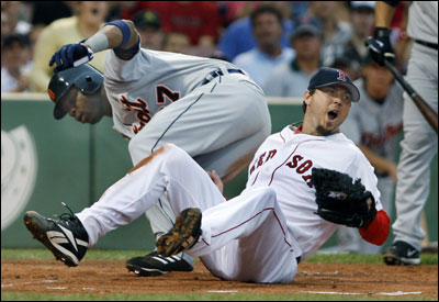 Little went right for Josh Beckett as Craig Monroe scored on a wild pitch in the first inning.