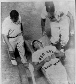 A deafening silence fell over Fenway Park 39 years ago tonight, the night young Red Sox star Tony Conigliaro was felled by a Jack Hamilton pitch. (1967 File Photo / Boston Globe)