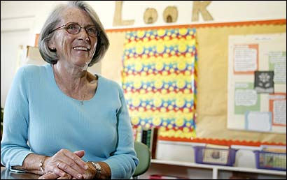 Friends describe retired elementary school teacher Ruth Reilly as organized, unpretentious, dedicated,and private.