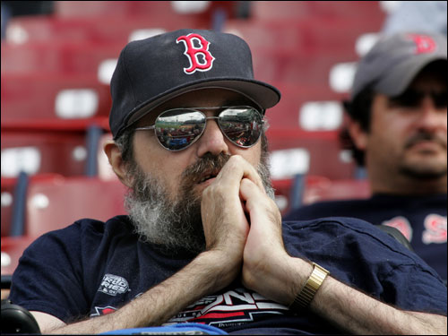 Elmer Lyon of Worcester appeared stunned after the five-game sweep of the Red Sox.
