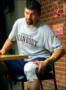 Red Sox catcher and captain Jason Varitek didn't make the trip out west, rehabbing in Boston to recover from torn cartilage in his left knee. Manager Terry Francona told reporters that he expects Varitek to return on Monday.