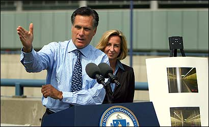 Governor Mitt ROmney, with Lieutenant Governor Kerry Healet, said yesterday that repairs to the westbound connector and Ramp D would take much longer than had been anticipated.