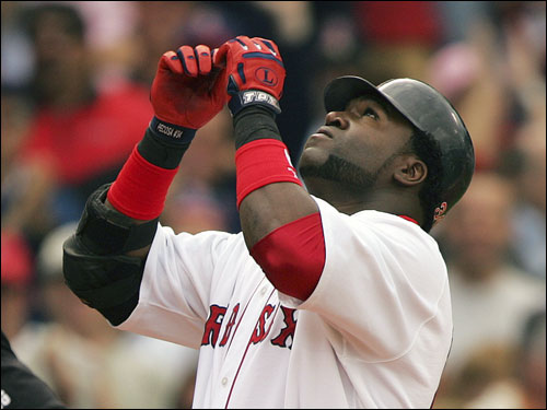 David Ortiz hit his 48th home run of the year, this blast coming in the sixth inning.