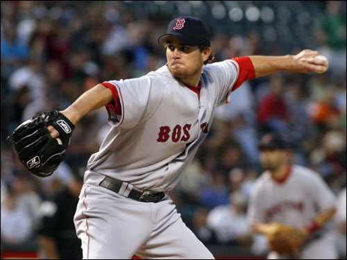 Kason Gabbard started for the Red Sox and shut down the Orioles for 4 2/3 innings.