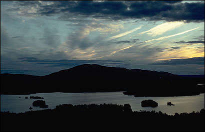 ON THE HORIZON Moosehead Lake is one of northern Maine's natural treasures, but soon homes and resorts may dot the shoreline there and on neighboring waters. By purchasing other property nearby, the Appalachian Mountain Club is keeping at least part of the region out of builders' hands.