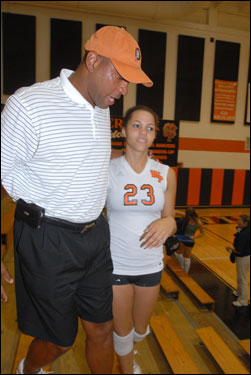 Doc chatted with Callie after her game.