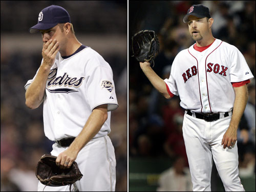 Alan Embree pitched 2½ seasons for the Sox from 2003 to 2005, getting the final out in the 2004 ALCS. Embree is now a part of the Padres bullpen.