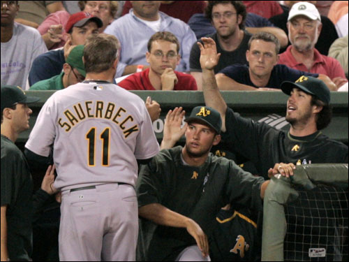 Scott Sauerbeck pitched in 26 games out of the Sox bullpen in the 2003 season and found a home with Oakland in 2006.