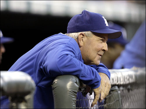 Grady Little is the manager for the Los Angeles Dodgers. Little led the Red Sox for two seasons before being let go after leaving Pedro Martinez on the mound in the eighth inning of Game 7 of the 2003 ALCS